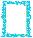 Nice abstract frame with decorations. An idea with a banner with abstract decorations. An idea that can be used in different projects Stock Photo