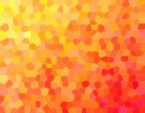 Nice abstract illustration of orange, yellow and red Small hexagon. Useful background for your needs. Nice abstract illustration of orange, yellow and red Small royalty free illustration