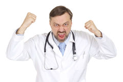 A nice adult Caucasian doctor Royalty Free Stock Photos