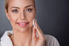 Nice adult woman with perfect skin. Nice adult woman with perfect clean skin on face Stock Photography