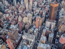 Aerial view of New York City from the Empire State Building stock image
