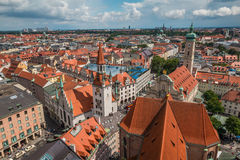 Nice Aerial view of Munich Germany Stock Photo