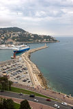 Nice - Aerial view of the Port de Nice Stock Photos
