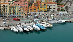 Nice - Aerial view of the Port de Nice Stock Photography