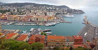 Nice - Aerial view of the Port de Nice Stock Photo