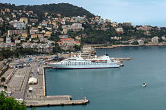 Nice - Aerial view of the Port de Nice Royalty Free Stock Photos