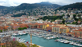 Nice - Aerial view of the Port de Nice Stock Image