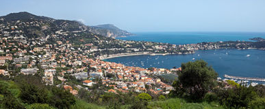 Nice - Aerial view of Villefranche-sur-Mer Royalty Free Stock Photo