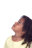 Nice african little girl looking up Royalty Free Stock Photography