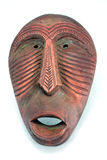 Nice African mask. Tribal african mask with creepy smile Stock Images