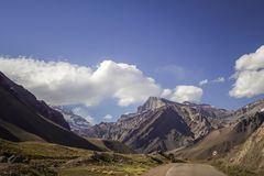 A nice afternoon among the mountains of the Andes Mountains in Mendoza royalty free stock images