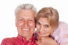 Nice aged couple Stock Images