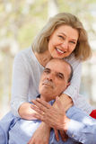 Nice aged couple hugging each other Stock Image