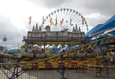 Nice Amusement rides at Dallas Fair Park Stock Image