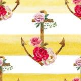 Nice anchor pattern Royalty Free Stock Photo