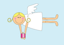 Nice angel girl with candle Royalty Free Stock Photography