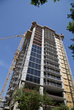 Nice apartment buildings construction stock image