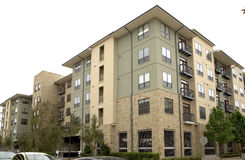 Nice apartment buildings stock image
