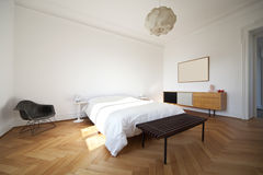 Nice apartment refitted, bedroom Royalty Free Stock Image