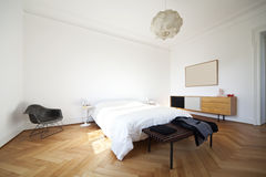 Nice apartment refitted, bedroom Stock Photos
