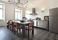 Nice apartment refitted, kitchen Royalty Free Stock Images