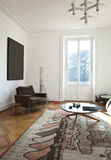 Nice apartment refitted, living-room Royalty Free Stock Image
