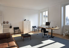 Nice apartment refitted, studio room Royalty Free Stock Images
