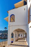 Nice arch in a small village Calella de Palafrugell Costa Brava, Spain.  Stock Images