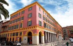Nice - Architecture of buildings on the Place Massena Royalty Free Stock Image