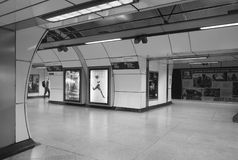 Nice architecture and details in black and white of London subway royalty free stock image