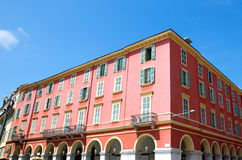 Nice - Architecture Place Massena. Architecture of Place Massena in city of Nice, France stock images