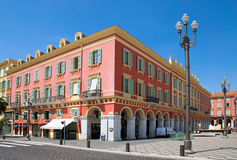 Nice - Architecture Place Massena Stock Photos