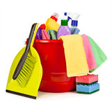 Nice arrangement of items for cleaning Royalty Free Stock Image