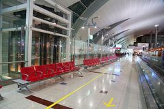 passenger sitting and waiting at Indore  Dubai international Airport Royalty Free Stock Photography