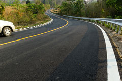 Nice asphalt road. In Mae Hong Son,Thailand Royalty Free Stock Photography
