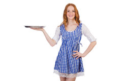 Nice attractive waitress Royalty Free Stock Image