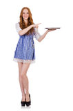 Nice attractive waitress Stock Photography