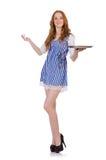 Nice attractive waitress Stock Image