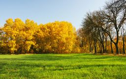Nice autumn day. In October, Czech Republic royalty free stock photography
