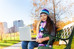 Nice autumn day to study outside Royalty Free Stock Photo