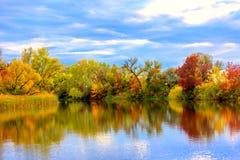 Nice autumn scene on lake Stock Images