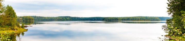 Nice autumn scene on Salmon lake Royalty Free Stock Images