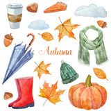 Nice autumn set Stock Image