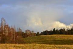 Nice autumnal scene with great colours. Mood. Great light. Place near city Siauliai,Lithuania.Kurtuvenai regional park stock photos