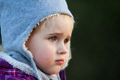 Nice baby child with woolen hat Stock Photography