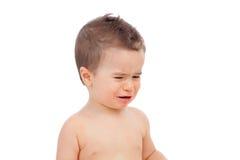 Nice baby crying Royalty Free Stock Photos
