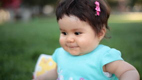 Nice baby in the park
