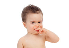Nice baby with sore gums Stock Photography