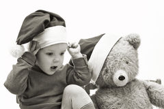 Nice baby with toy Royalty Free Stock Images