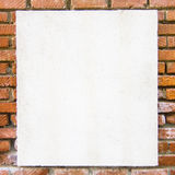 Background with bricks and white area. Nice background with bricks and white area stock images